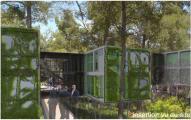 Bureau en Algeco dans un espace boisé