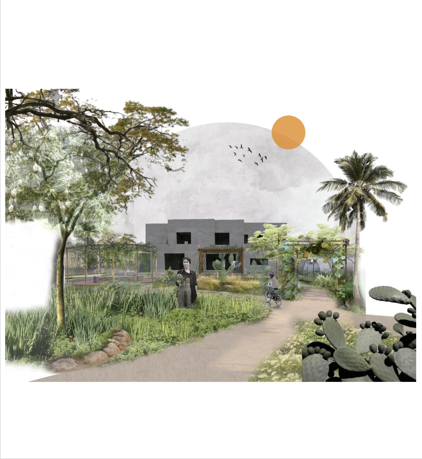 Permaculture urban garden ellearchitecture